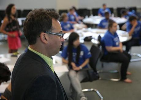 Thomas Miller of Vanguard Direct in New York served as an instructor at the Samsung Mobile App Academy.